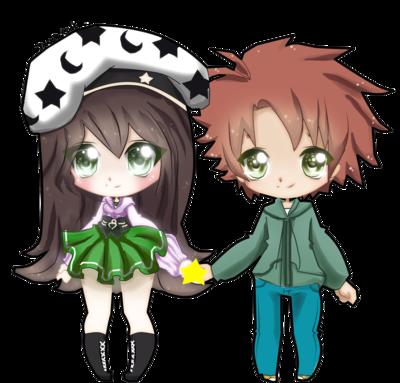 Imgs For > Anime Chibi Couple Hugging Chibi couple
