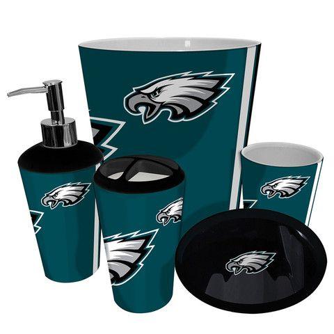 Philadelphia Eagles Nfl Complete Bathroom Accessories 5pc Set