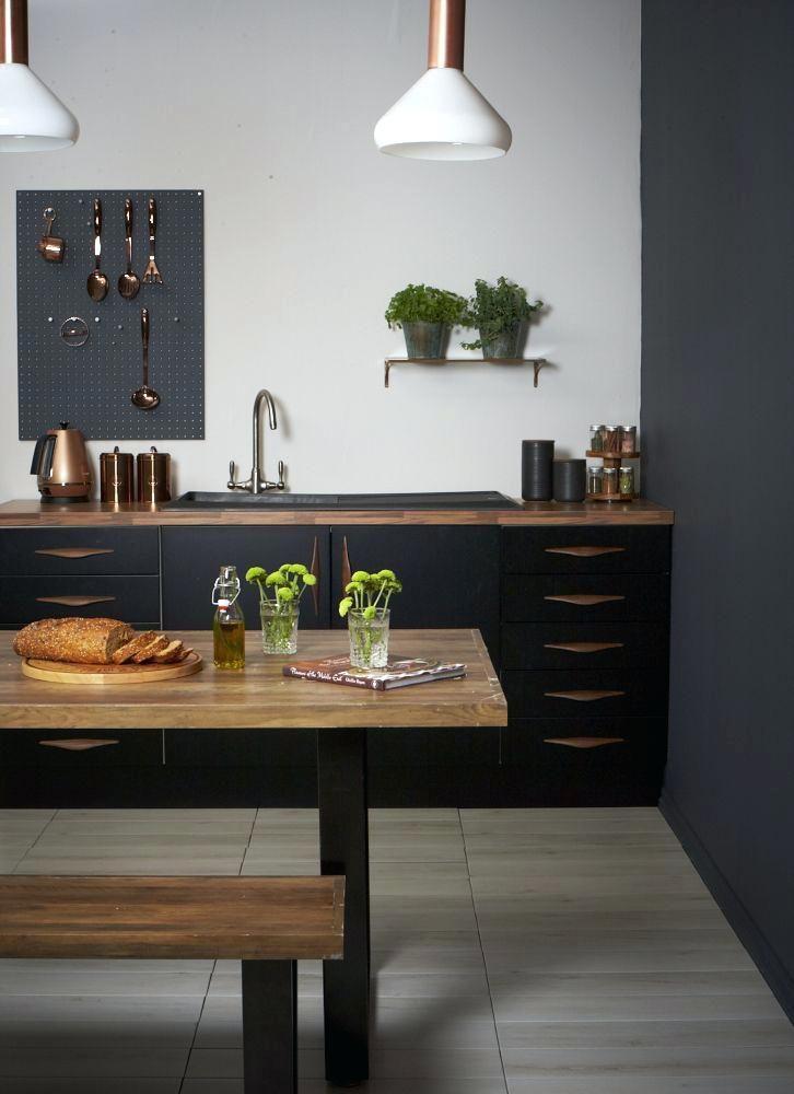 Image result for black kitchen units Image
