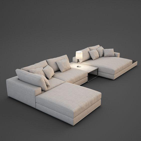 realistic sofa 3d max nel 2019 Divano grande