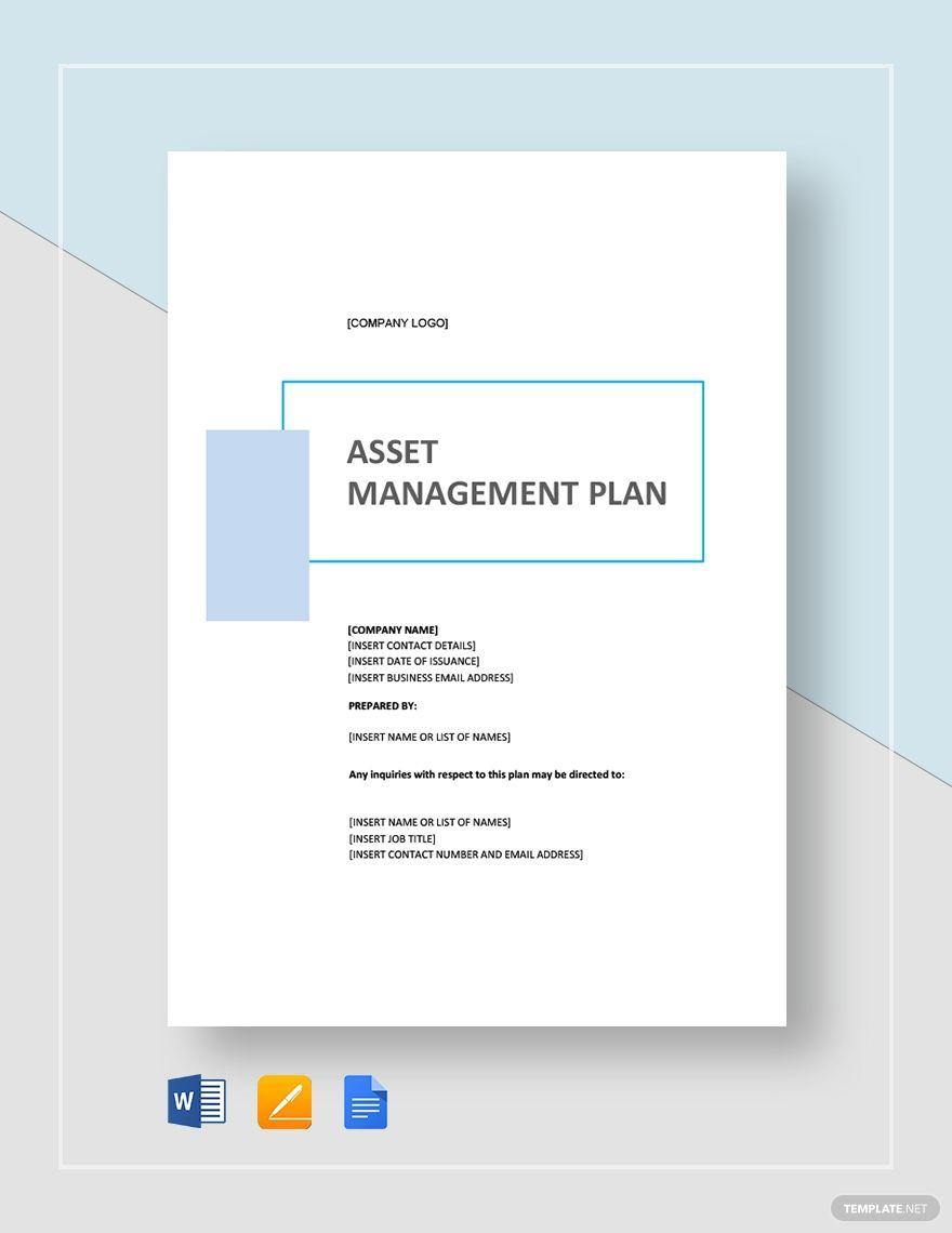 Simple Asset Management Plan Template Word Doc Apple Mac Pages Google Docs Asset Management How To Plan Word Doc