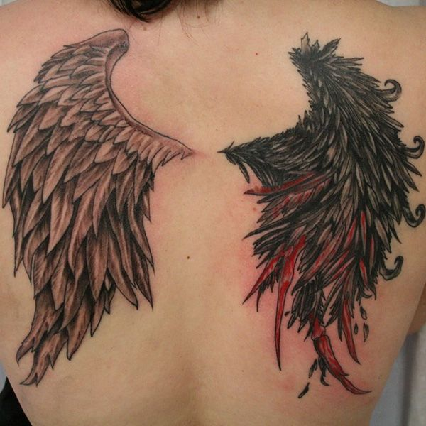 Down With My Demons Tattoo: 38 Decorative Wing Tattoo For 2013