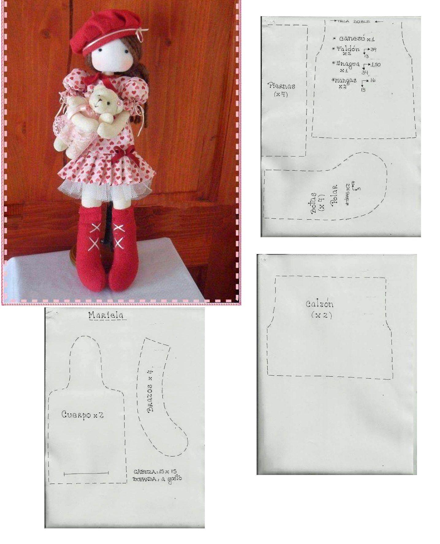 Hermosa!!!!! la quiero hacer!!!!! | Dolls | Pinterest | Spielzeug ...