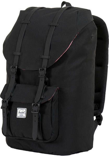 Herschel Little America Rucksack Black Black Titus Onlineshop Herschel Backpack Cute Black Backpack Herschel Backpack Little America