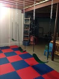 swings in basement  love  cheap basement remodel