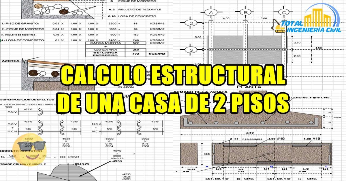 Calculo Estructural De Una Casa Calculo Estructural De Una Casa De 2 Pisos Calculo Estructural De Una Ca Diseno De Muro De Contencion Diseno De Muros 2 Piso