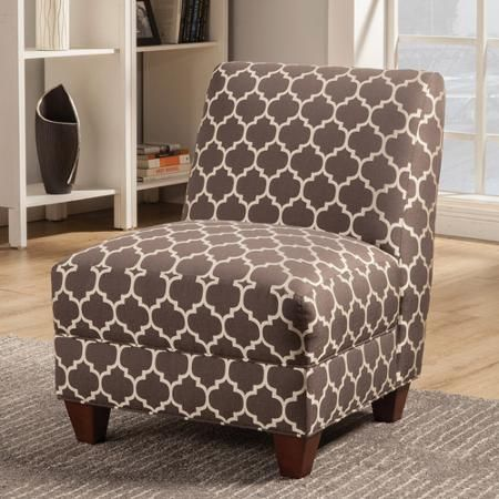 Coaster Quatrefoil Accent Chair Grey White Accent Chairs