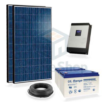 kit solaire 500w 220v complet autonome avec batterie 2. Black Bedroom Furniture Sets. Home Design Ideas