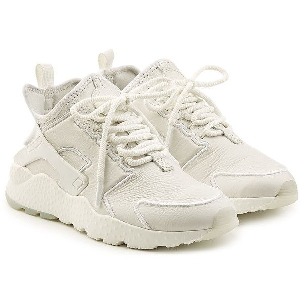detailed look af6cb 540f1 Nike Air Hurarache Sneakers (€149) ❤ liked on Polyvore featuring shoes,  sneakers, white, slip on sneakers, slip-on shoes, pull on shoes, slip on  trainers ...