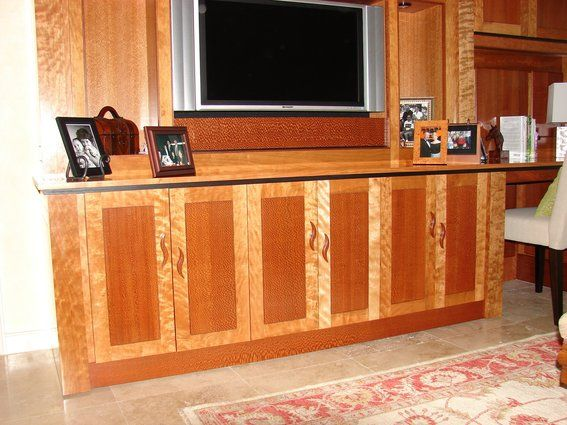 wall units with two woods | Custom Made Exotic Wood Wall Unit By ...