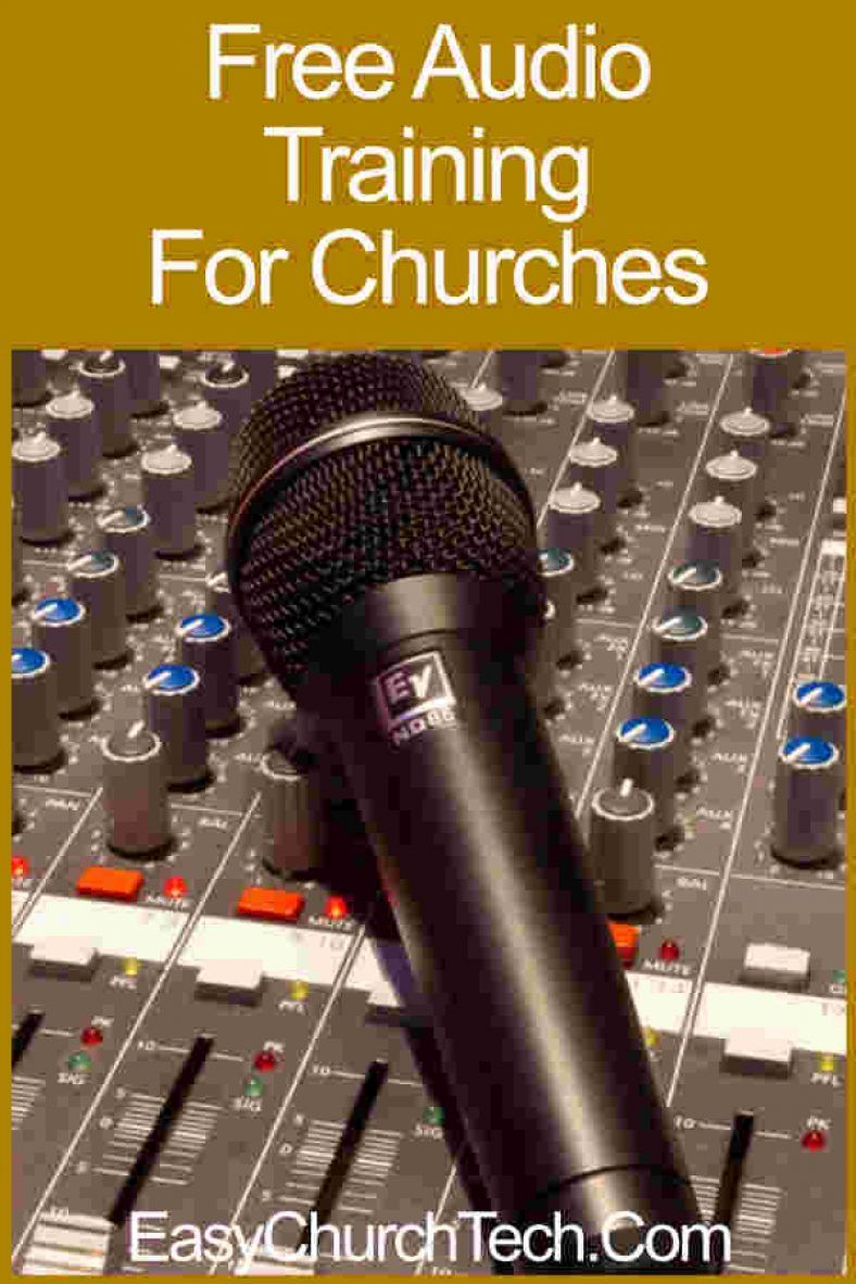 Free audio training for churches audio sound system system