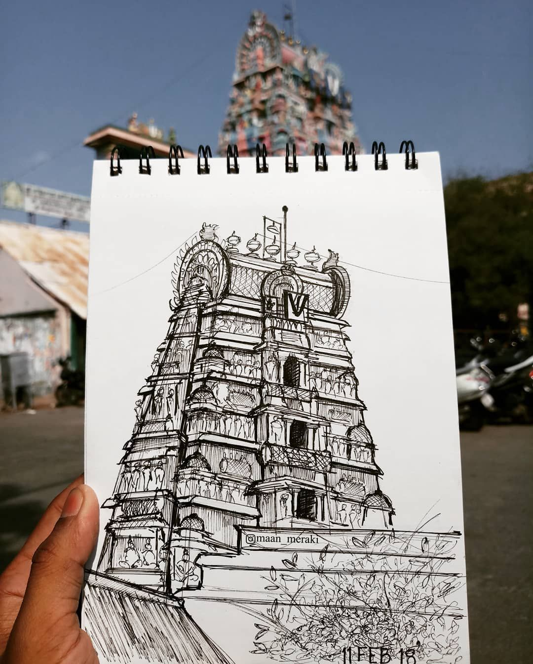 Intricacy in dravidian architecture parthasarathy temple chennai maan meraki