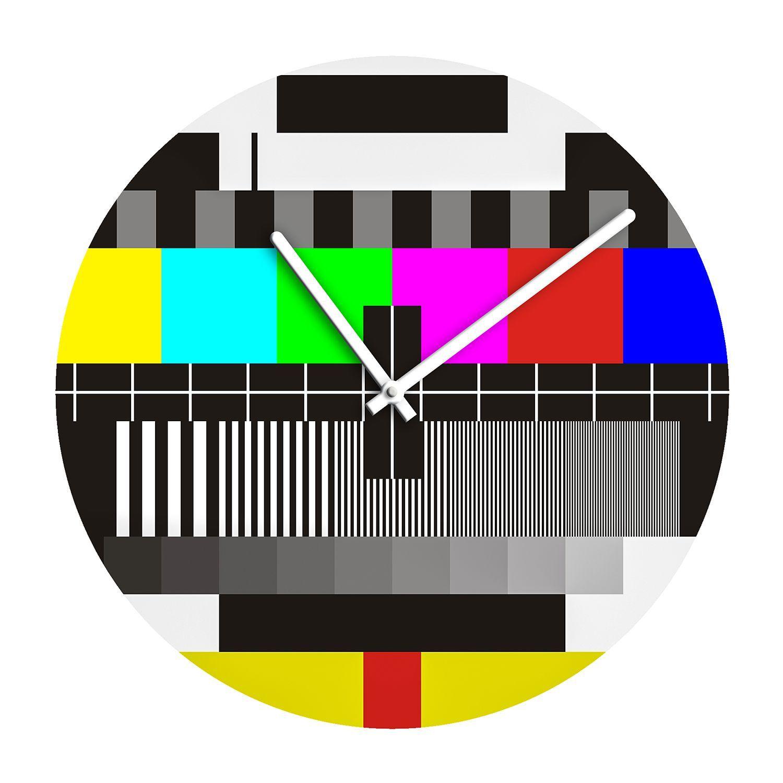Wanduhr Testbild   Glas   Mehrfarbig, Pro Art Jetzt Bestellen Unter:  Https://moebel.ladendirekt.de/dekoration/uhren/wanduhren/?uidu003dd22b52f8 De8d 5b0d Aeb4   ...