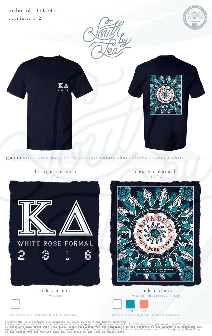 T shirt printing at white rose - Kappa Delta Kd White Rose Formal Tribal T Shirt Design South