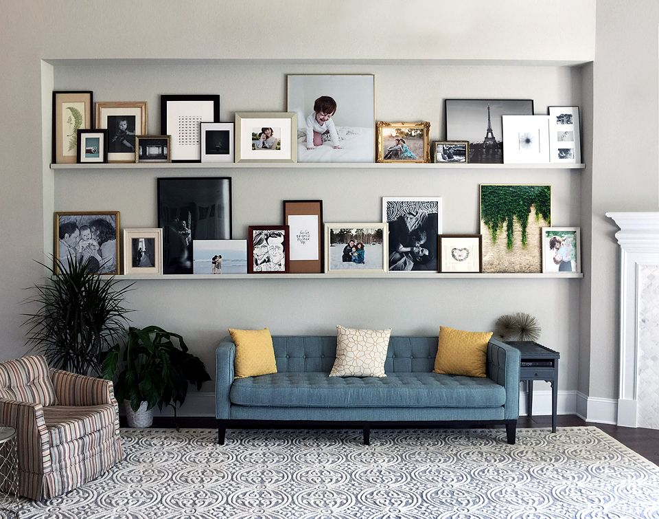 Print Your Photos Wall Display Living Room Display Cabinet Picture Frame Shelves Photo Wall Display