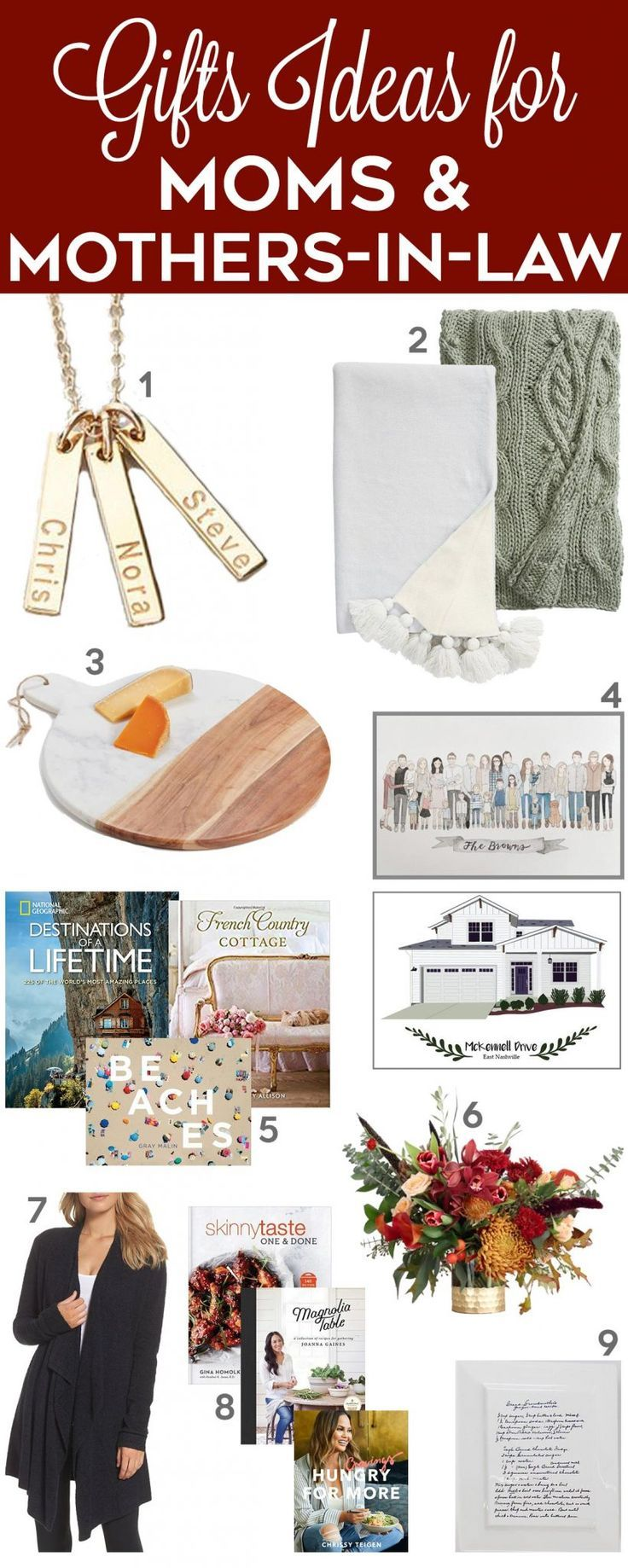 Gift Ideas for Moms & Mothers-In-Law | Mother christmas gifts, Mother birthday gifts, In law ...