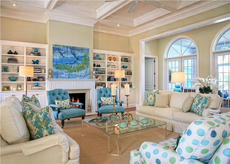 Coastal Living Roomjacquelyn Armour Not Fond Of Polka Dotted Amazing Coastal Design Living Room Design Decoration