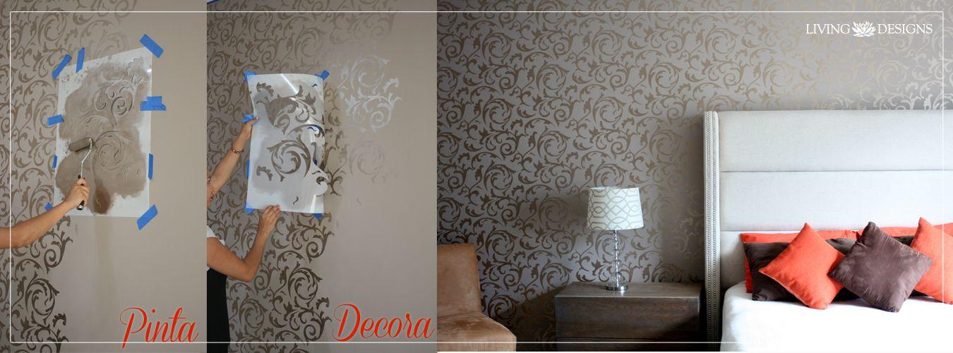 Pinta decora y transforma decoracion de interiores for Como decorar paredes con papel