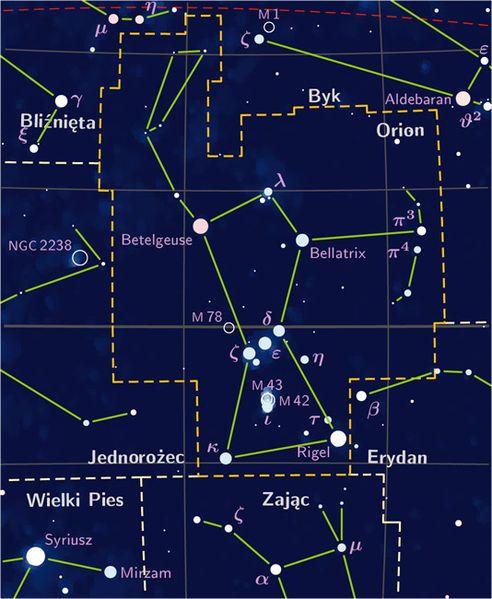 FileOrion Constelation PP Map PLjpg Cosmos Pinterest - Bortle dark sky scale map