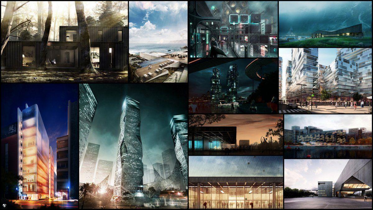 12 postwork style architectural visualization tutorials roundup