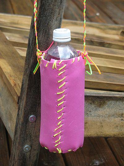 Otra idea para ser creativo, un pequeño bolso de Foami para llevar el agua o el #SaborRifel