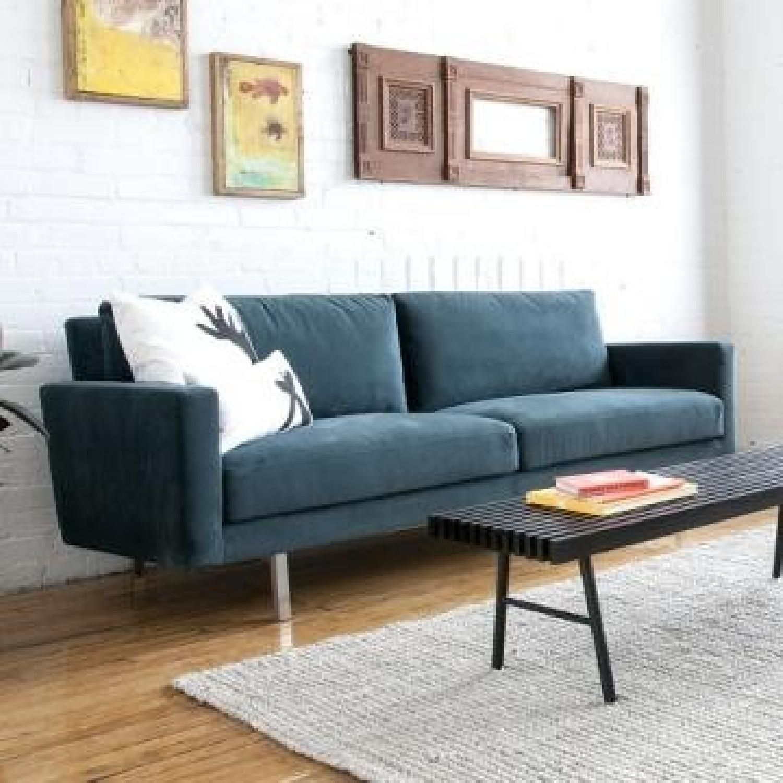 Gus Modern Bloor Velvet Neptune Sofa Contemporary Living Room Furniture Furniture Gus Modern Furniture