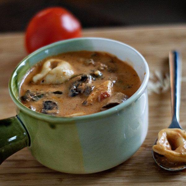 Slow Cooker Creamy Tortellini Soup Recipe: Creamy Slow Cooker Tortellini Soup- I Made This For Josh