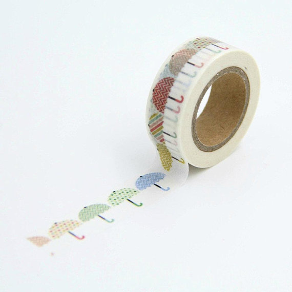 Umbrellas Crafts Washi Tape 15mm X 10m