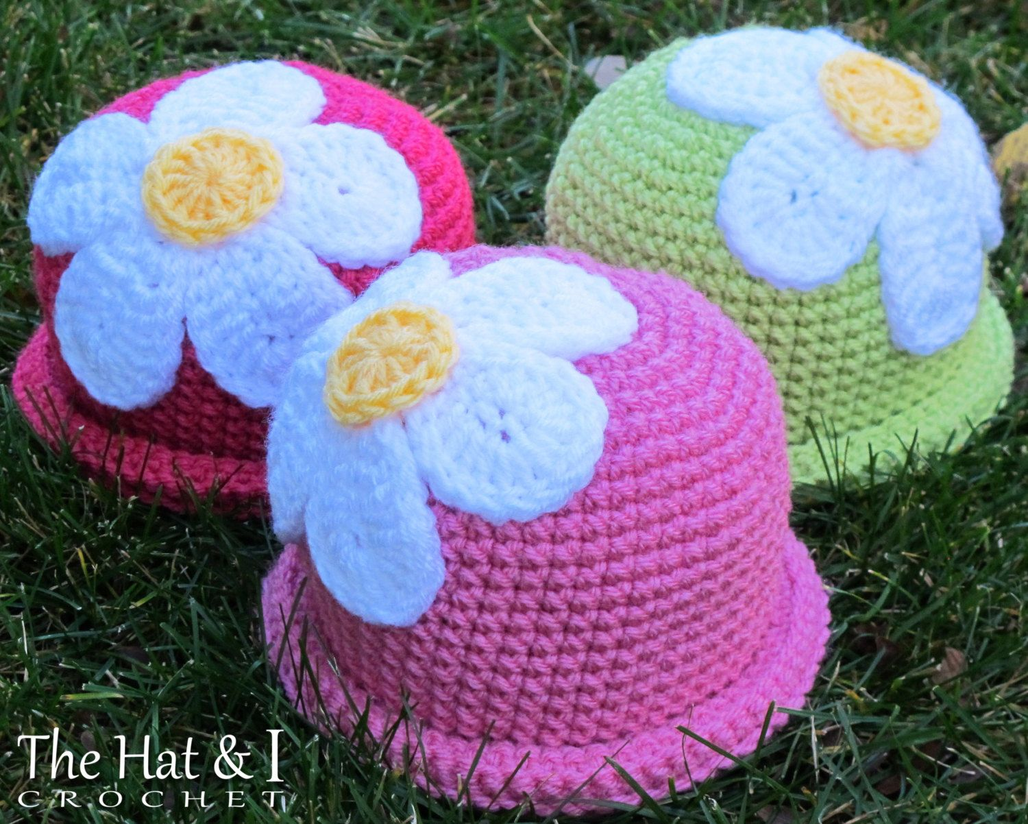 Crochet pattern spring fling a beanie hat with daisy flower in 5 crochet pattern spring fling a beanie hat with daisy flower in 5 sizes izmirmasajfo