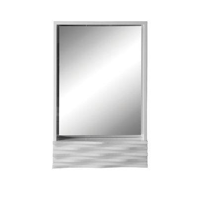 Decolav 9723-WHG Sophia Mirror Medicine Cabinet, High Gloss White