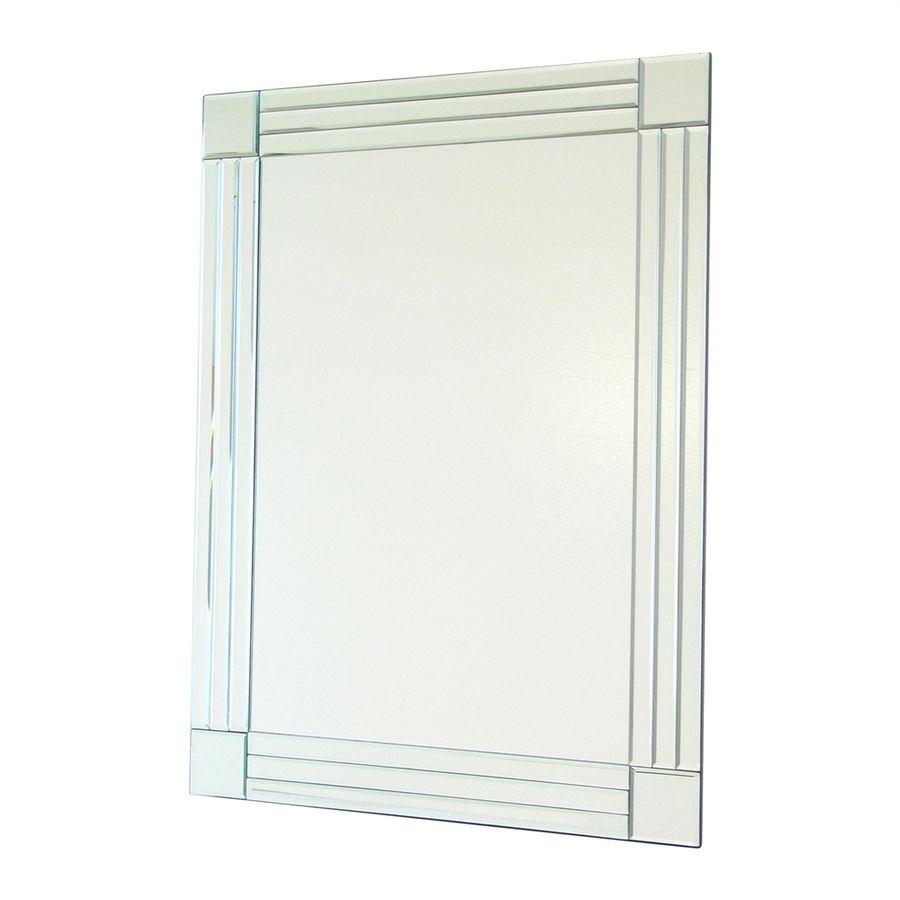 Wayborn Furniture Column Clear Beveled Frameless Wall Mirror