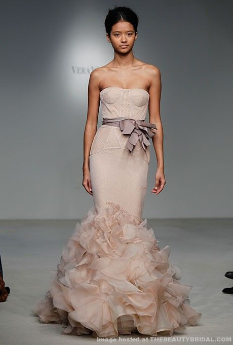 Vera Wang's latest collection featured gowns in an array of colors ...