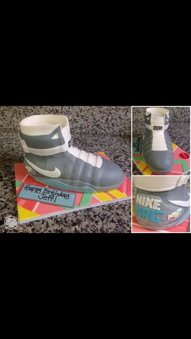 Nike Air Mag Back To The Future Cake With Images Nike Air Mag