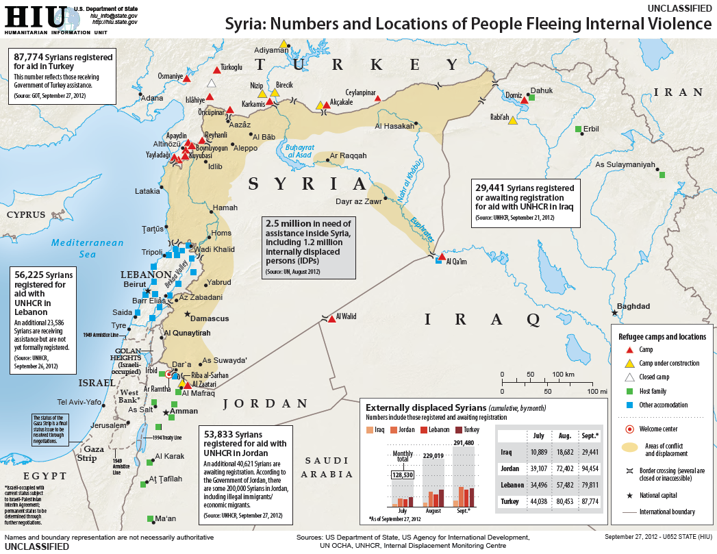 Syrian Refugee Camps in Turkey and Jordan Satellite Photos
