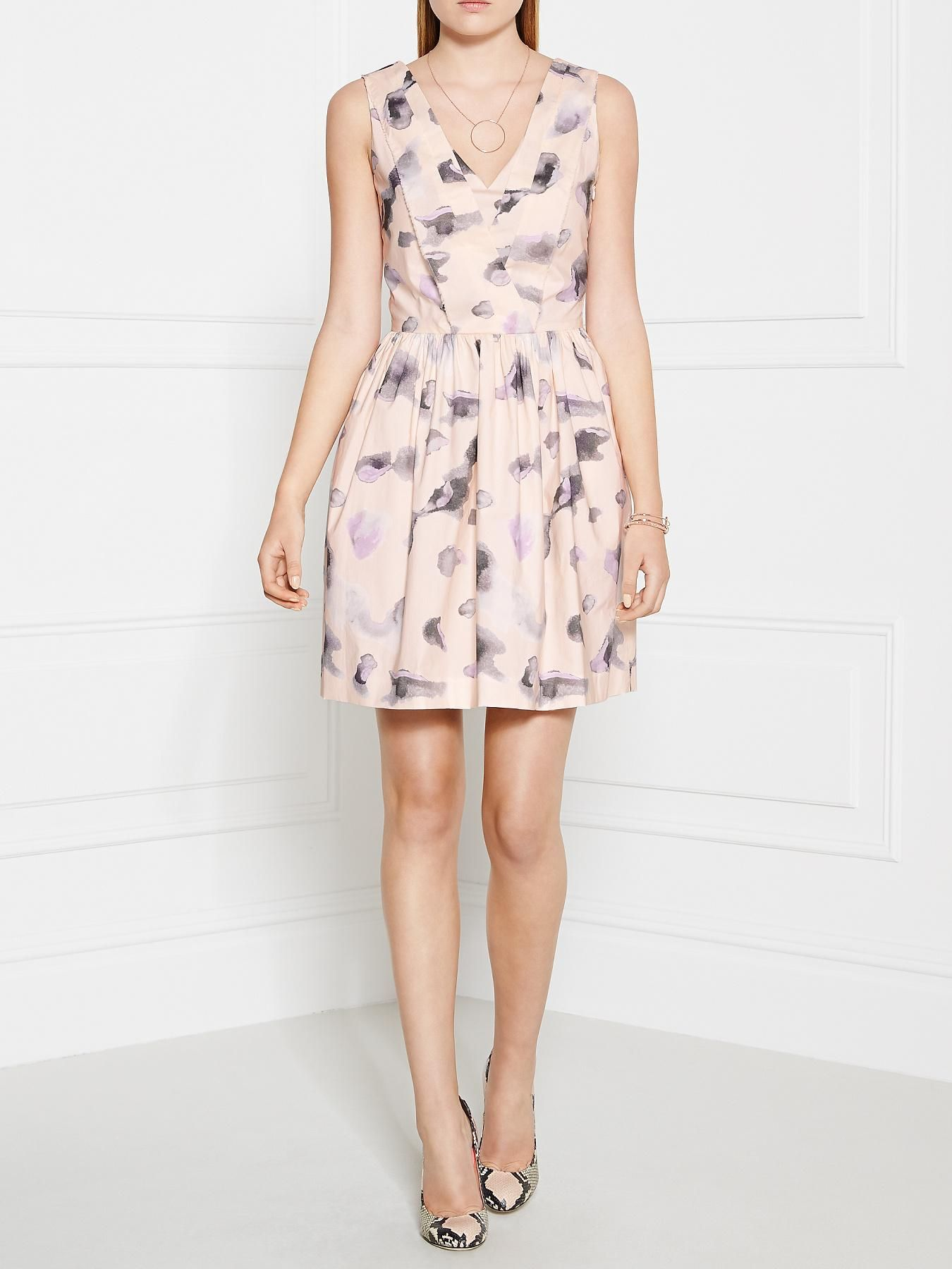 KARL LAGERFELD Melina Cloud Leopard Print Dress - Grey ...