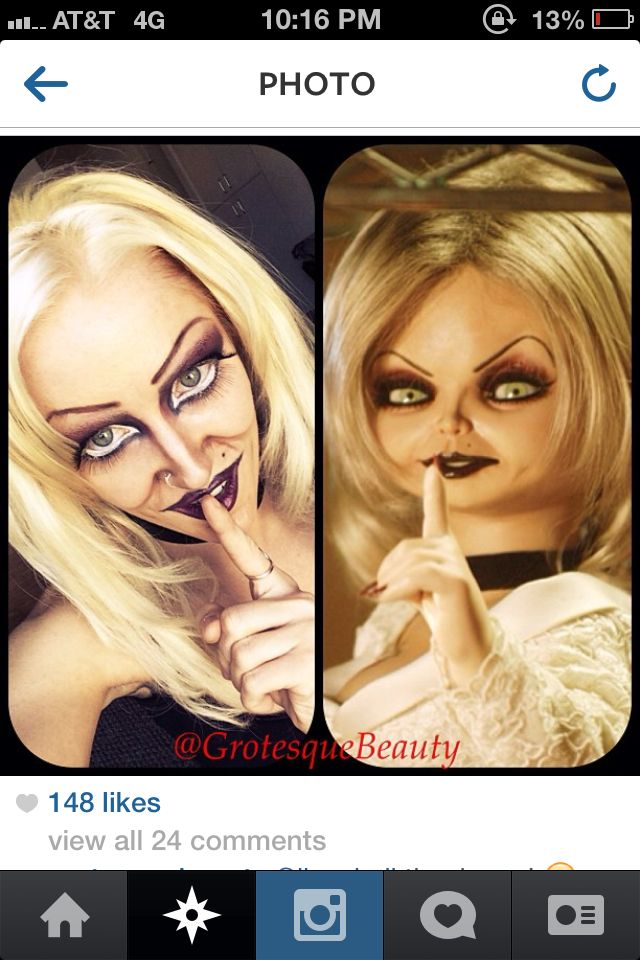 Bride Of Chucky Makeup