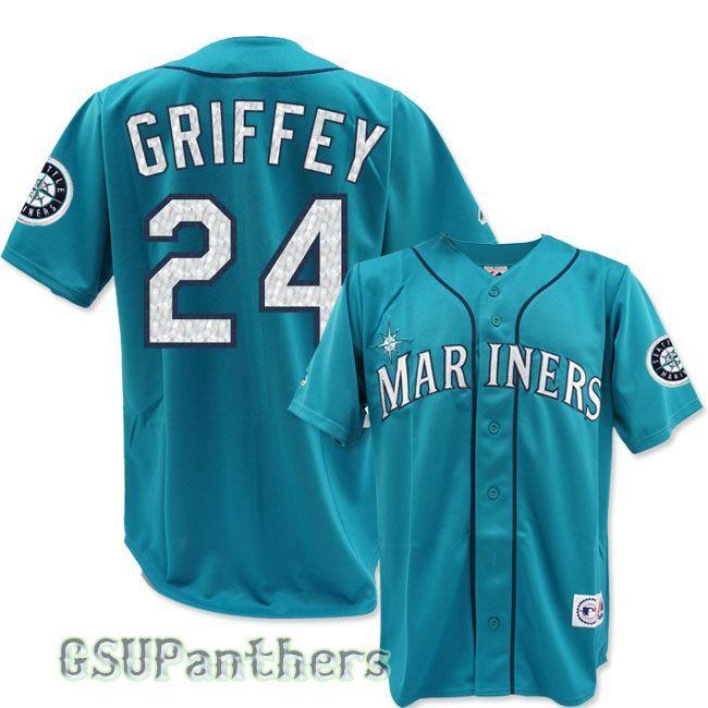 online store 0d6eb 58db0 Ken Griffey Jr Seattle Mariners Alternate Teal Green Aqua ...