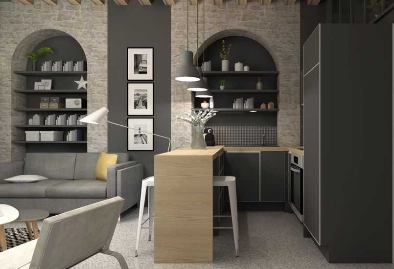 petite surface am nagement d coration lyon. Black Bedroom Furniture Sets. Home Design Ideas