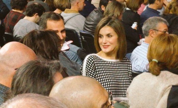 King Felipe and Queen Letizia attended 'Les Luthiers' Spectacle, March 5, 2016