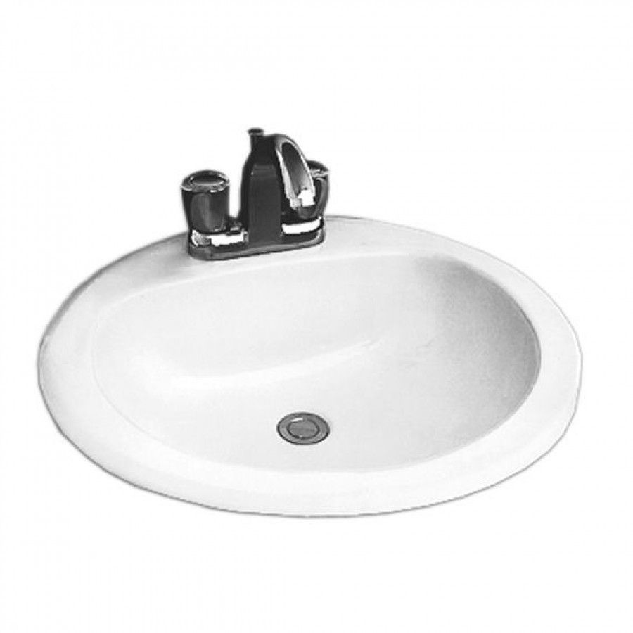 Crane 19 Round Atlanta Drop In Bathroom Sink 1618v Lavatory