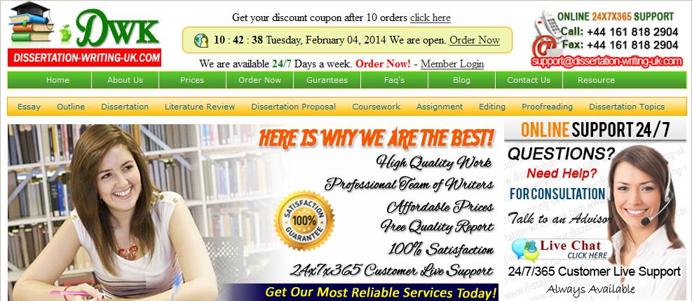 Mba dissertation writing services uk