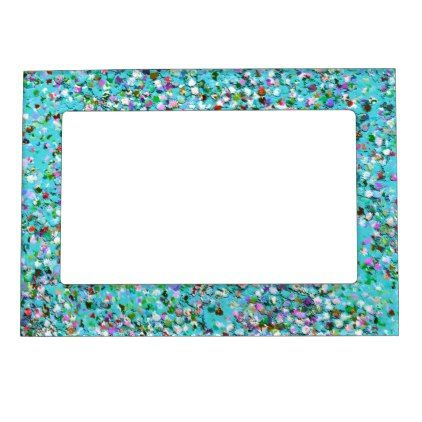 Multicolor Mosaic Modern Grit Glitter #7 Magnetic Photo Frame - home ...