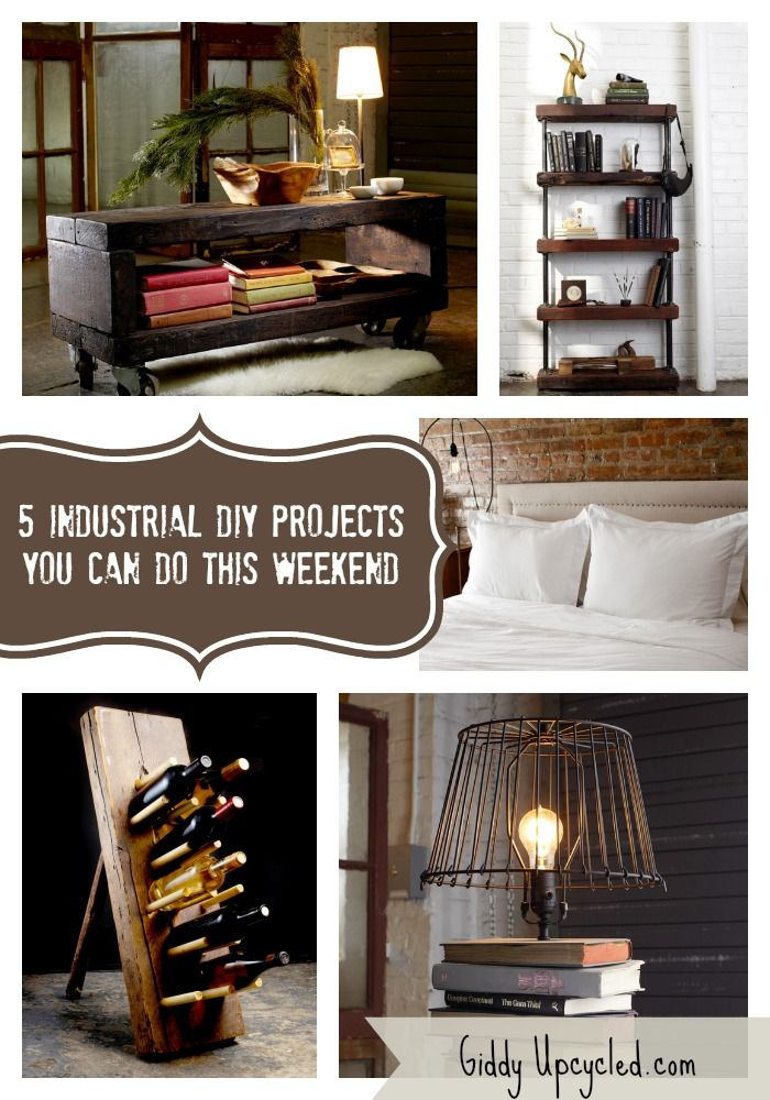 5 Rustic Diy Industrial Furniture Projects You Can Do This
