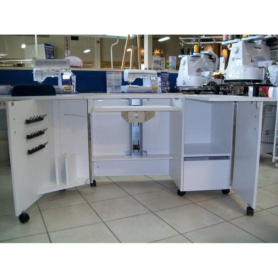Table A Machine A Coudre meuble pénélope pour machine à coudre et surjeteuse (avec