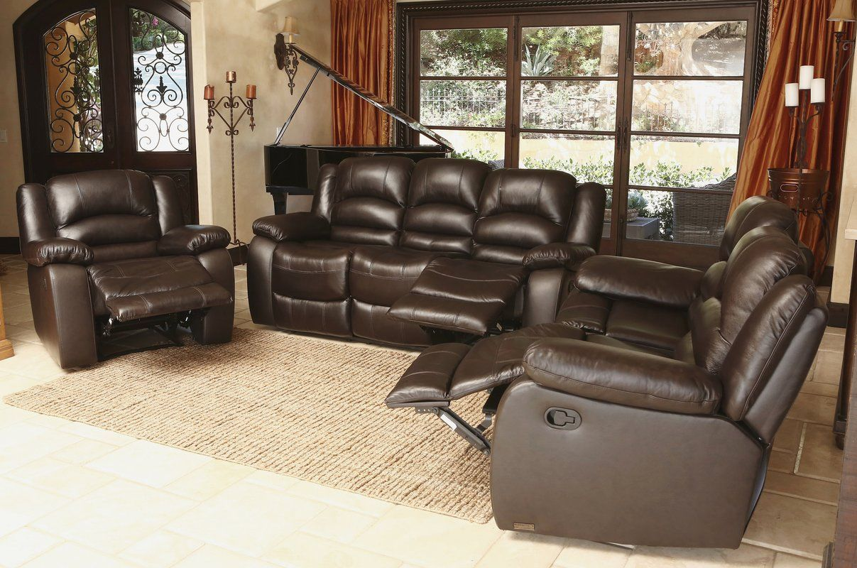 Best Discount Top Rated 3 Piece Leather Living Room Set By 400 x 300