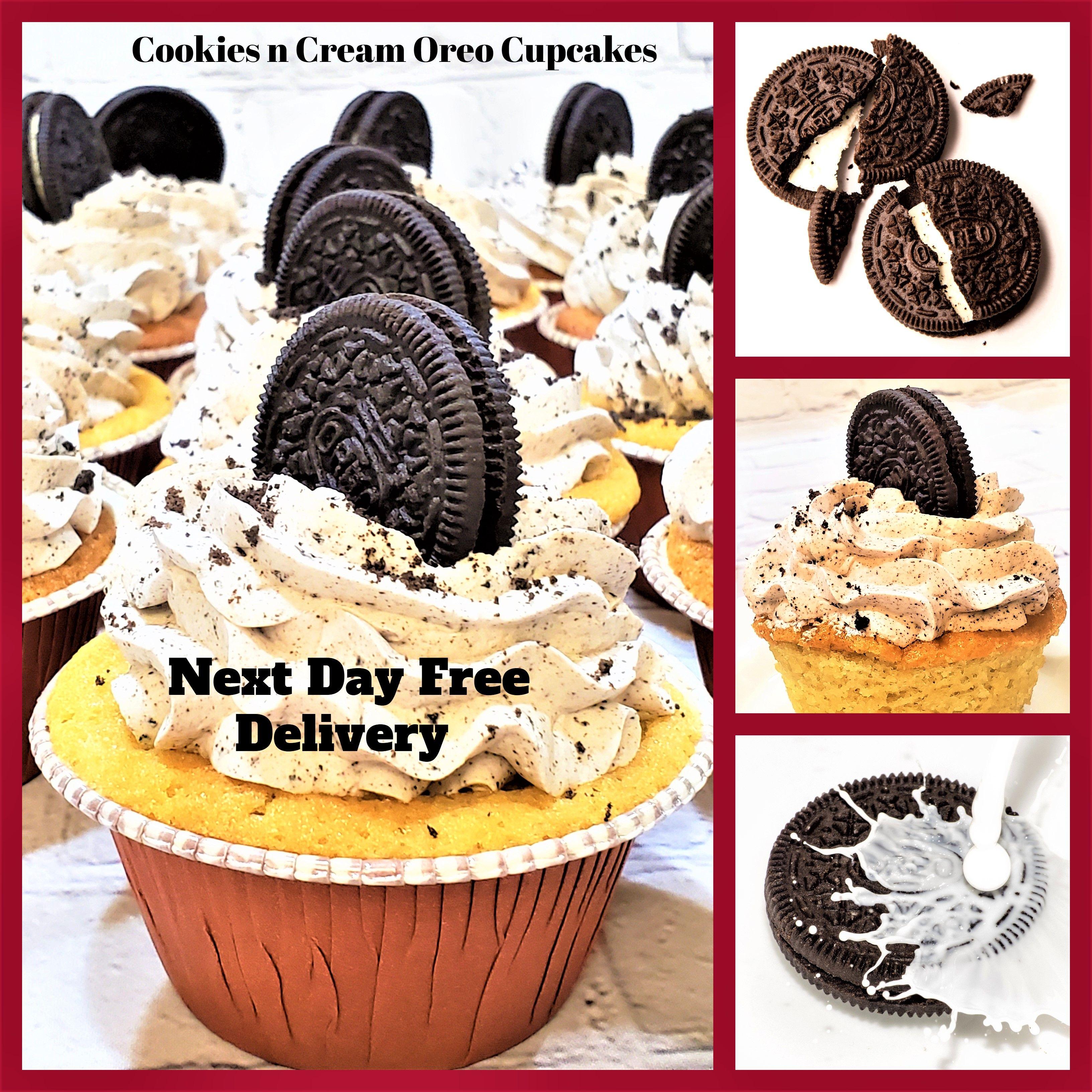 Dozen cookies and cream oreo cupcakes oreo buttercream