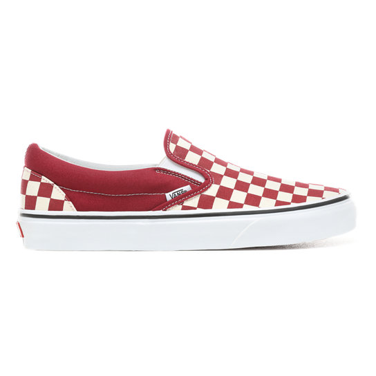 Chaussures Checkerboard Slip-On | Rouge | Vans | Chaussures ...