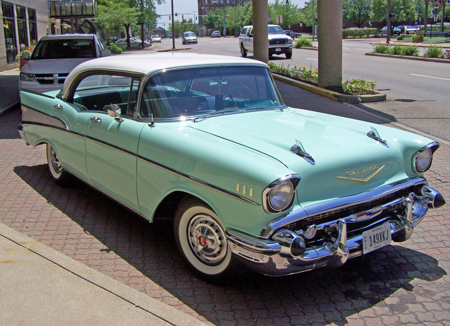 This Is The Color Surf Green Chevy Bel Air Chevy Retro Cars
