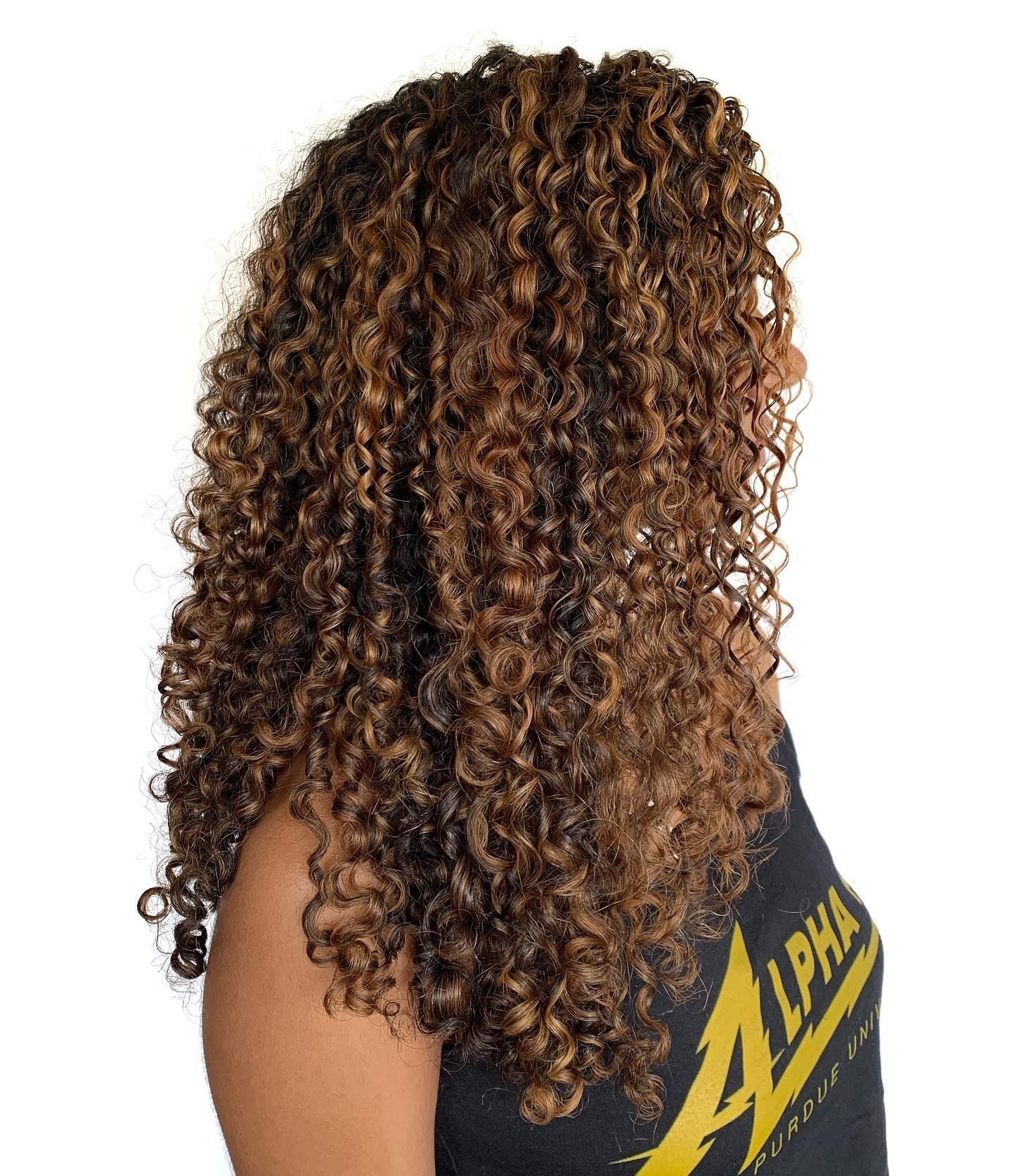 Pintura Highlights Dyed Curly Hair Dyed Natural Hair Colored Curly Hair