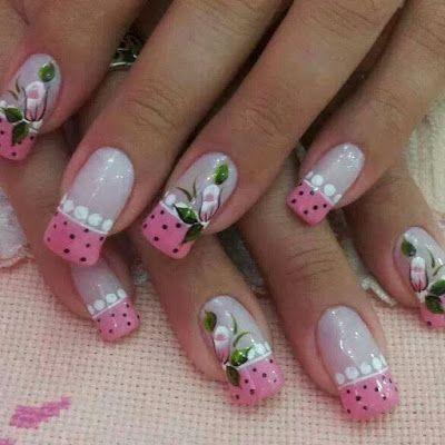 decoração de unhas faceis de fazer unhas em tons de rosa ...